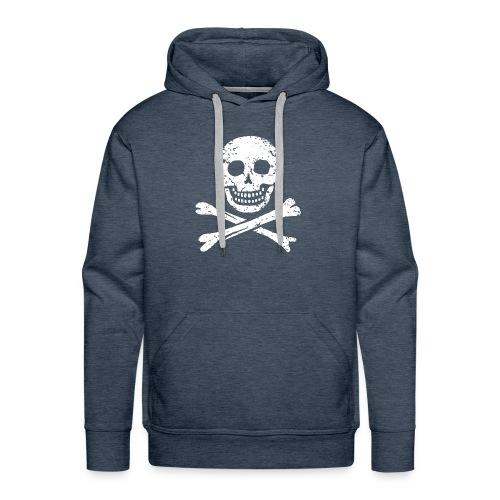 Skull & Crossbones - Distressed - Men's Premium Hoodie