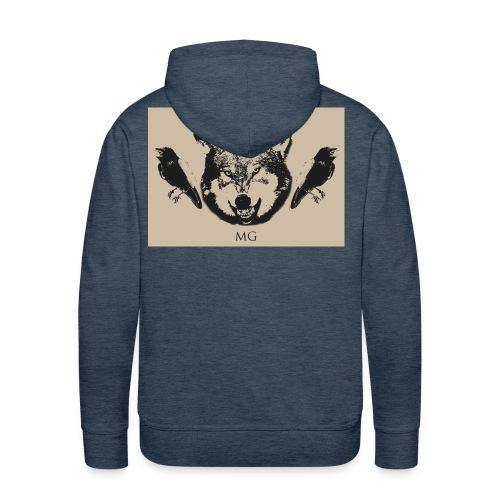 Wolf und Raben - Männer Premium Hoodie