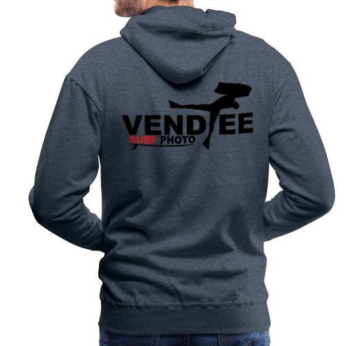 VS Bodyboard Logo Noir - Sweat-shirt à capuche Premium pour hommes