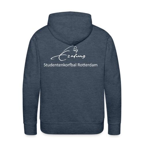 Erasmus Korfbal wit - Mannen Premium hoodie
