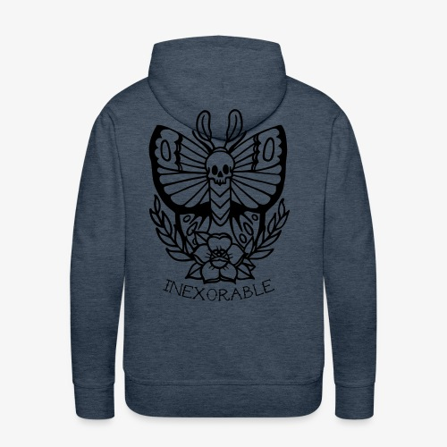 Traditional Tattoo Moth - Men's Premium Hoodie