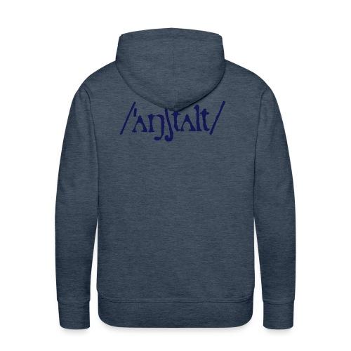 /'angstalt/ logo - Männer Premium Hoodie
