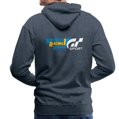 Swedish Racing League GT Sport vit - Premiumluvtröja herr