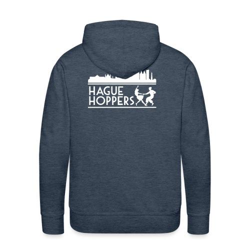 HH white logo back - Mannen Premium hoodie