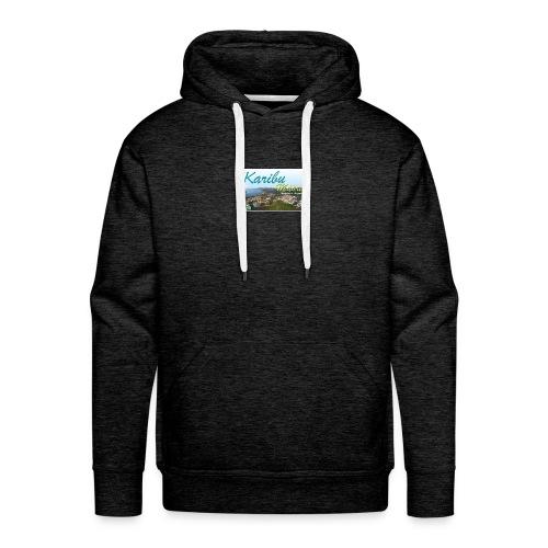 karibu maore - Sweat-shirt à capuche Premium pour hommes
