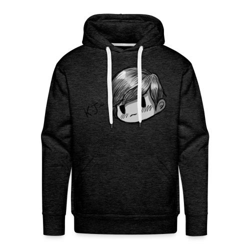 KJ (Black and White Version) - Men's Premium Hoodie