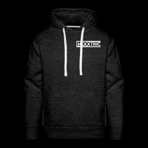 logo blanc NEXXTRIC - Sweat-shirt à capuche Premium pour hommes