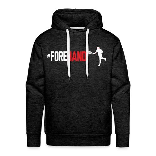Tennis #Forehand - Felpa con cappuccio premium da uomo