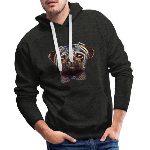 Pug with bow tie - Men's Premium Hoodie