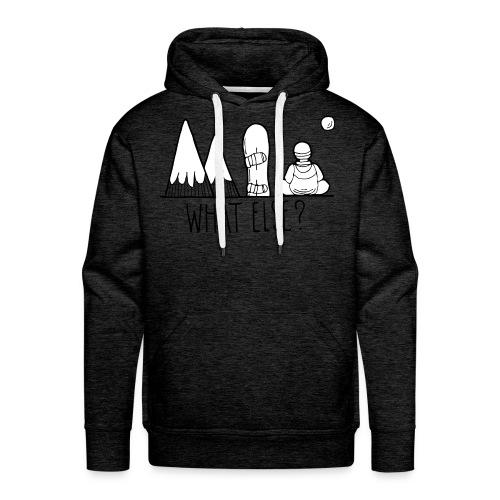 snowboard et montagnes what else - Sweat-shirt à capuche Premium pour hommes