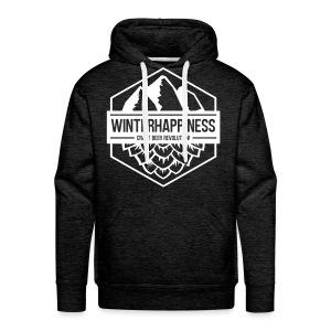 Winterhappiness Logo - Premium hettegenser for menn