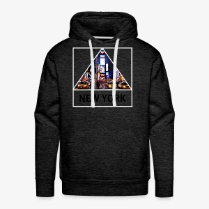 Triangle sur New York - Sweat-shirt à capuche Premium pour hommes