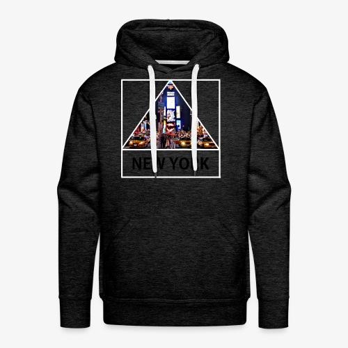 Triangle sur New York - Sweat-shirt à capuche Premium pour hommes