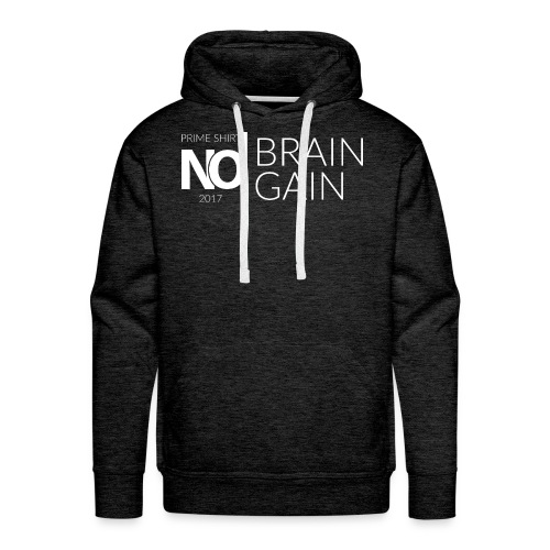 No Brain, No Gain - Collection 2017 - Blanc - Sweat-shirt à capuche Premium pour hommes