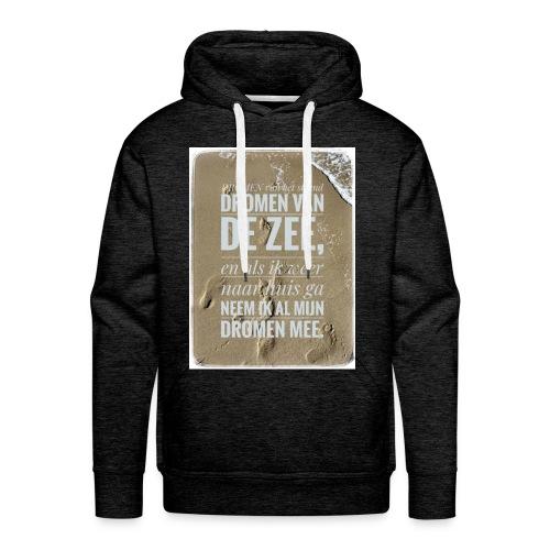 Dromen van het strand - Mannen Premium hoodie