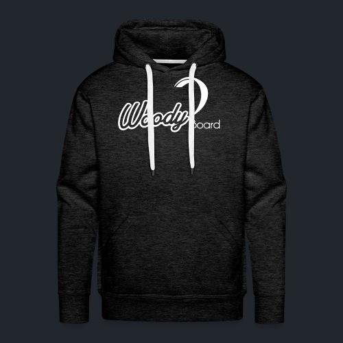 Logo Woodyboard Blanc - Sweat-shirt à capuche Premium pour hommes