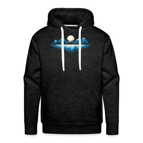 Moon Landscape t-shirt - Felpa con cappuccio premium da uomo