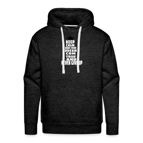 never_give_up - Mannen Premium hoodie