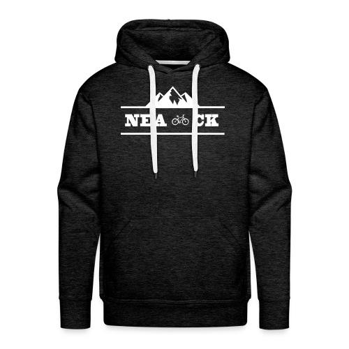 NeaCK hvit logo - Premium hettegenser for menn