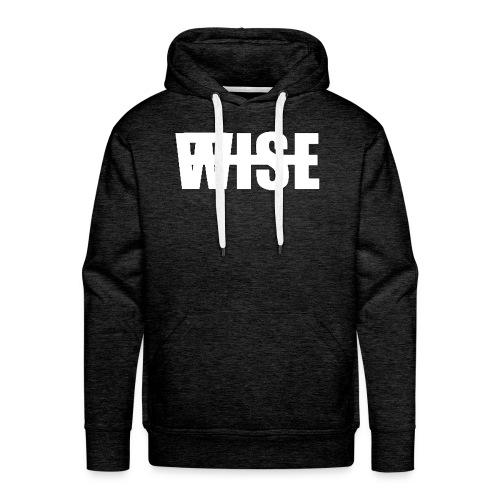 WISEFINALwhite - Men's Premium Hoodie