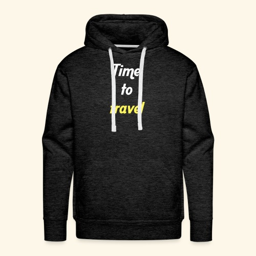 Time to travel - Sweat-shirt à capuche Premium pour hommes