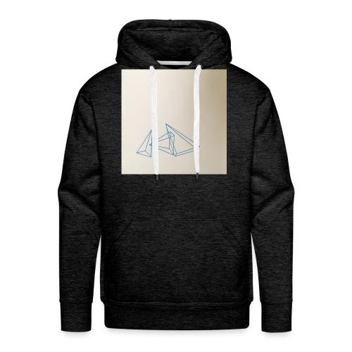 triangles bleu - Sweat-shirt à capuche Premium pour hommes