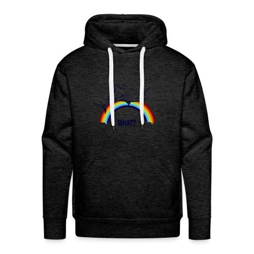 rainbow shark unicorn - Sweat-shirt à capuche Premium pour hommes