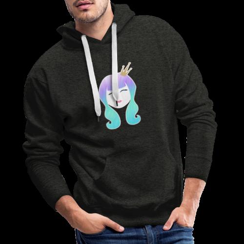 Mermaid Princess rainbow hair - Men's Premium Hoodie