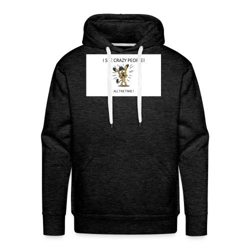 CRAZY_PEOPLES - Sweat-shirt à capuche Premium pour hommes