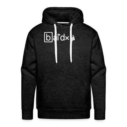 BaldX logo - Felpa con cappuccio premium da uomo