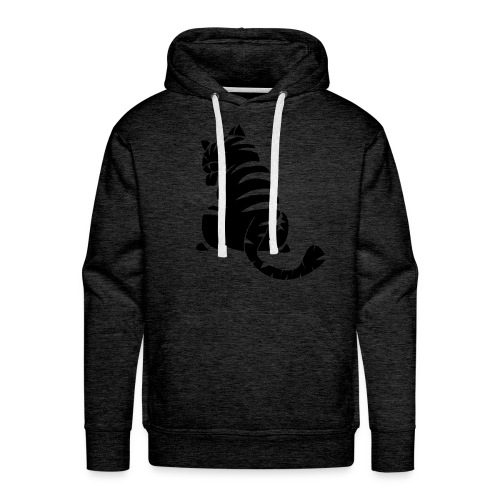 Chat rayures - Sweat-shirt à capuche Premium pour hommes