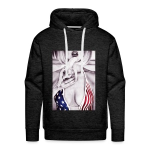 Stars & Stripes Top banana - Men's Premium Hoodie