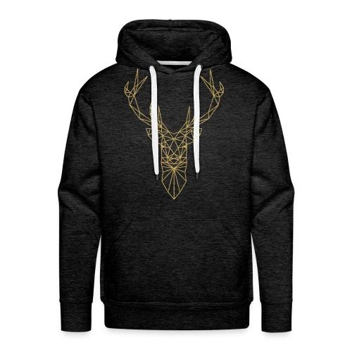 Hirschkopf Triangel-Design gold - Männer Premium Hoodie