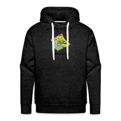 cartes - Sweat-shirt à capuche Premium pour hommes