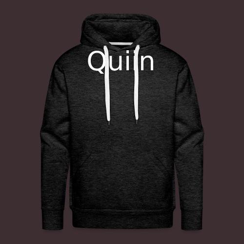 White_Quiin_outline - Männer Premium Hoodie