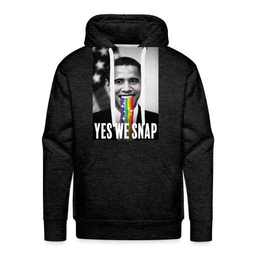 Obama snaps - Sweat-shirt à capuche Premium pour hommes