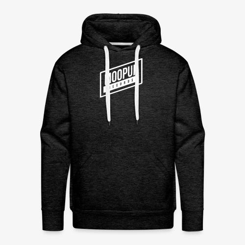 Moopup Records Merchandising (White Logo) - Sudadera con capucha premium para hombre