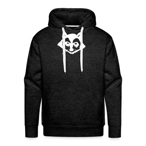 Tvättbjörn Logo Weiß mit schwarzer Umrandung - Männer Premium Hoodie