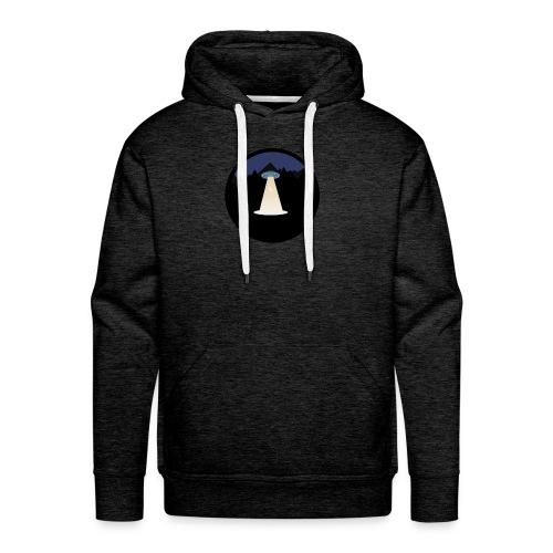 UFO beaming up a deer - Mannen Premium hoodie