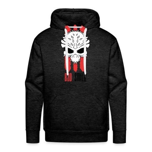 3Red Lines Skull mit schrift - Männer Premium Hoodie