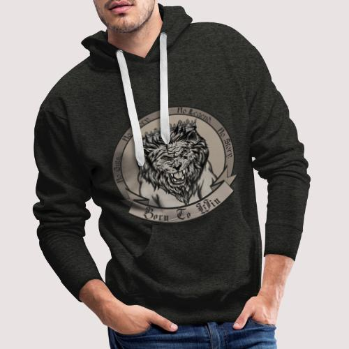 Lion. Burn to win. - Männer Premium Hoodie
