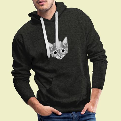 Kitten - Felpa con cappuccio premium da uomo