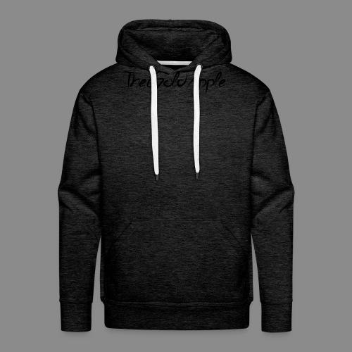 TheGoldApple (Svart) - Premium hettegenser for menn