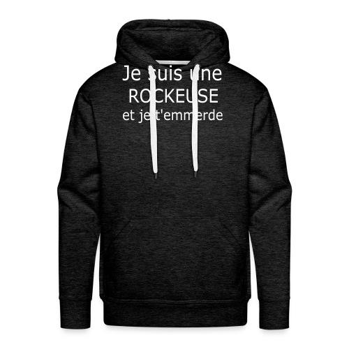 Rockeuse - Sweat-shirt à capuche Premium pour hommes