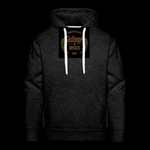 Sort logo 2017 - Herre Premium hættetrøje