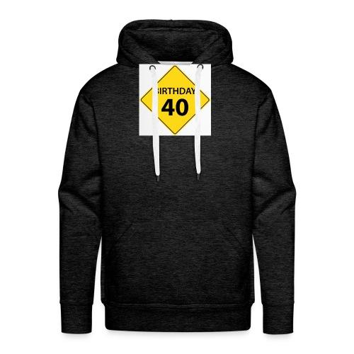 motive shield birthday 40 40 - Premiumluvtröja herr