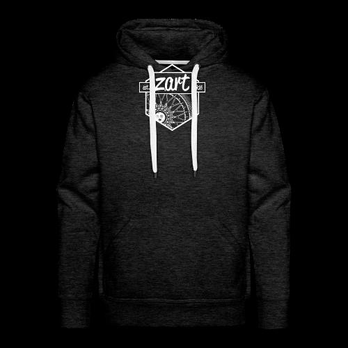 z.art Logo | white - Männer Premium Hoodie