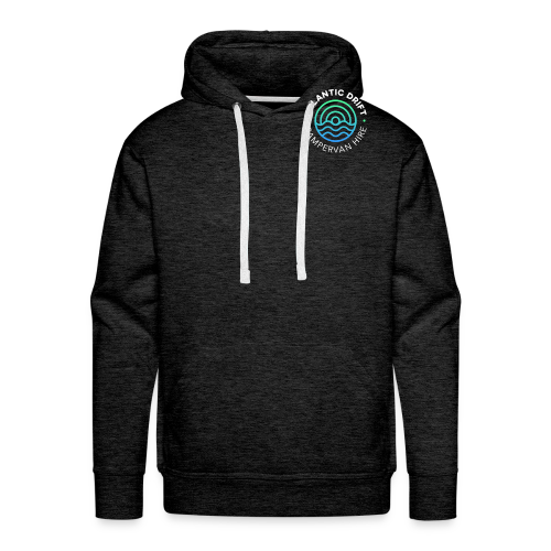 Atlantic Drift Logo (White) - Men's Premium Hoodie