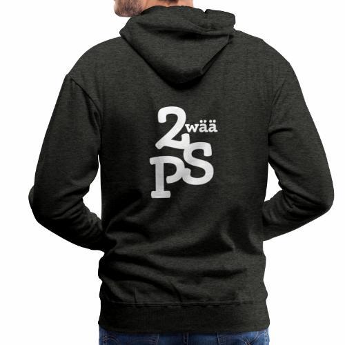 ZwaeaePS Logo weiß - Männer Premium Hoodie