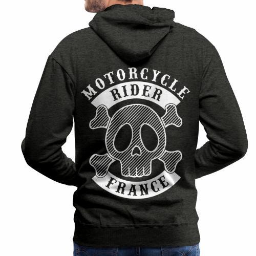 Motorcycle Rider France - Sweat-shirt à capuche Premium pour hommes